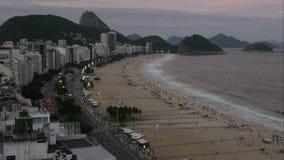 Time Lapse Copacabana plaża, Rio De Janeiro, Brazylia zdjęcie wideo