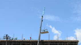 Time lapse crane working in construction site. Of thailand stock video footage