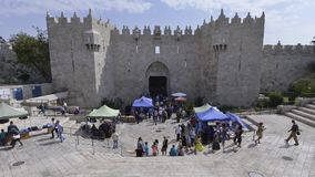 Time-lapse of Damascus gate stock footage