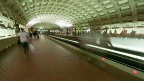 Time Lapse of the DC Metro -  4K - 4096x2304. The Washington DC Metro Rail stock footage