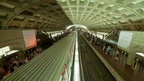 Time Lapse of the DC Metro -  4K - 4096x2304. The Washington DC Metro Rail stock video footage
