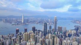 Time lapse de la ciudad de Hong Kong, visión desde el pico almacen de video