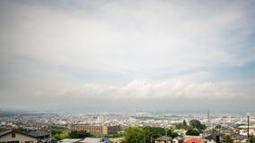 Time lapse de la ciudad del Mt Fuji y de Fujinomiya en 4K almacen de video