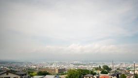 Time lapse de la ciudad del Mt Fuji y de Fujinomiya, granangular almacen de video