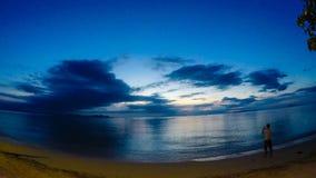 Time lapse de la puesta del sol en la isla de Samui metrajes