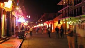 Time lapse de New Orleans de la calle de Borbón almacen de video