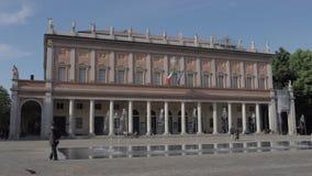 Time Lapse de Romolo Valli Municipal Theater Reggio Emilia banque de vidéos