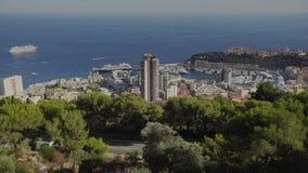 Time lapse del día de Monte Carlo Summer de la ciudad de la ciudad de Mónaco almacen de metraje de vídeo