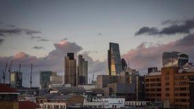 Time lapse del horizonte de Londres almacen de metraje de vídeo