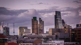 Time lapse del horizonte de Londres almacen de video