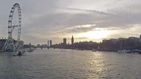 Time Lapse del invierno de Londres almacen de metraje de vídeo