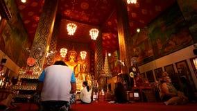 Time lapse del lumpun famoso tailandés del templo almacen de video