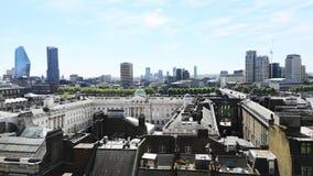 Time Lapse del paisaje urbano de Londres almacen de metraje de vídeo
