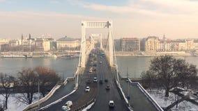 Time Lapse del ponte di Elizabeth a Budapest Ungheria archivi video