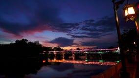 Time lapse del puente de Navarat almacen de metraje de vídeo