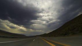 Time lapse del Rearview de Roadtrip almacen de video