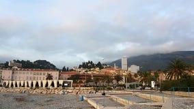 Time Lapse della città di Menton sul Riviera francese video d archivio