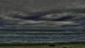 Time Lapse des nuages au-dessus du lac Ontario banque de vidéos
