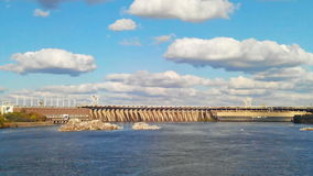 Time Lapse of the Dnieper Hydroelectric Station. stock footage