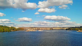 Time Lapse of the Dnieper Hydroelectric Station. stock video footage