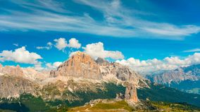 Summer time lapse of Dolomites mountain Fanes and Cortina d Ampesso Italy stock video footage