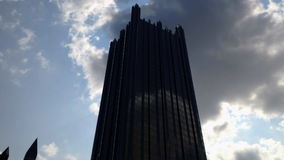 Time lapse pittsburgh downtown clouds sky stock footage