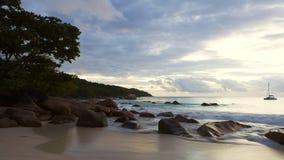 Time lapse of dramatic coastline at Anse Lazio, Seychelles. Time lapse of dramatic coastline at Anse Lazio, Praslin island, Seychelles stock video