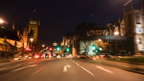 Time lapse of driving around Houses of Parliament & central London stock video footage