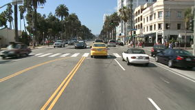 Time lapse of Driving in Santa Monica CA - Roof Mounted Camera 2 of 2. Roof mounted camera / Driving in Santa Monica California Shot with a Sony EX3 stock video