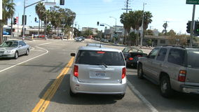 Time lapse of Driving in Venice CA - Roof Mounted Camera 2 of 2. Roof mounted camera / Driving in the back alleys of  Venice California Shot with a Sony EX3 stock video