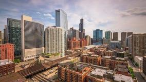 Time Lapse du centre d'horizon de Chicago, l'Illinois, Etats-Unis banque de vidéos