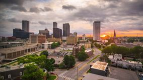 Time Lapse du centre de Tulsa, l'Oklahoma, Etats-Unis