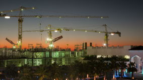 Time lapse from dubai marina construction