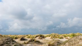 Time lapse of dunes and clouds on Texel stock video footage