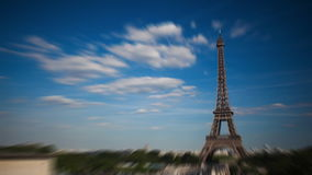 Time-Lapse of the Eiffel Tower stock footage