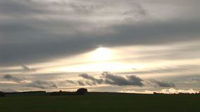 Time lapse of English countryside clouds moving. Time lapse of clouds moving over landscape stock video