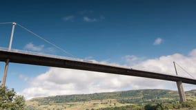 Time lapse of Erskine Bridge, Scotland stock video footage