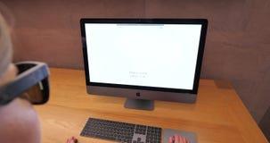 Time lapse fast motion latest Apple iMac Pro professional workstation. STRASBOURG, FRANCE - CIRCA 2018: Time lapse fast motion New iMac Pro the all-in-one stock video