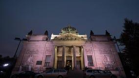 Time lapse of festivity cathedral kultury zgorzelec stock video