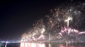 Fireworks show on new years eve in Abu Dhabi stock video footage