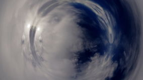 Time lapse fisheye clouds stock footage