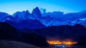 Time lapse of Fitz Roy at twilight stock video footage