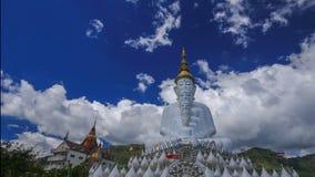 Time-lapse of Five Buddhas at Wat Phra Thad Pha Son Kaew Temple, Phetchabun, Thailand stock video