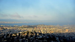 Time Lapse of Foggy San Francisco stock footage