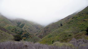 Time Lapse of Foggy Valley Northern California. Fog passes a valley in northern California stock video footage