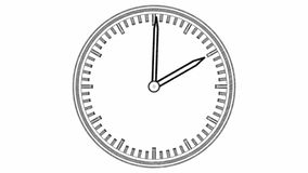 Time-lapse footage of clock stock video