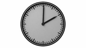 Time-lapse footage of a clock stock video