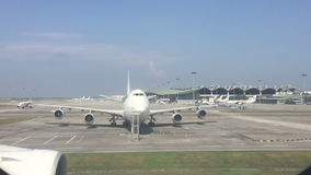 Time lapse footage of KL International Airport stock video