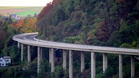 Time Lapse footage, traffic on highway in western Germany, a view from a distance with a telephoto lens. stock footage