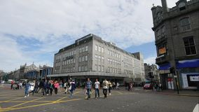 Time Lapse Footage of Traffic on Union Street in Aberdeen stock video footage
